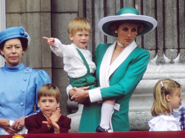 当年戴安娜王妃怀抱哈里王子观看皇家空军阅兵仪式